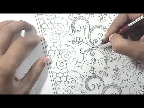 Draw Saree Border For Embroidery Design Smotret Onlajn Na Hah Life