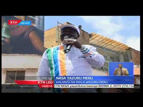 Raila Odinga na Kalonzo Musyoka wazuru  Meru
