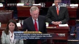 Mitch McConnell on the Nuclear Option...in 2013