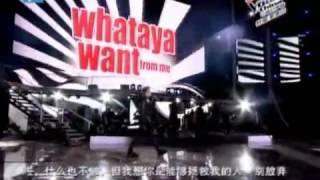 Whataya Want From Me - Adam Lambert ft. Zhang Wei [The Voice China contestant]
