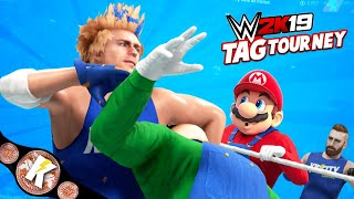 Championship Match! KIDCITY vs Super Mario Bros WWE 2k19 Tag Tournament | KIDCITY GAMING