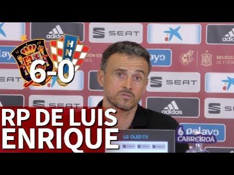 España 6 - Croacia 0   Rueda de prensa de Luis Enrique   Diario AS