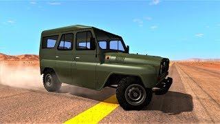 Гаишники и Милиция Белоруси ловят УАЗ в игре BeamNG.Drive