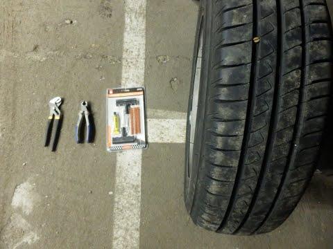 Reparar pinchazo en neumático