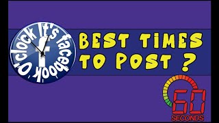 What is the best time to post on Facebook?