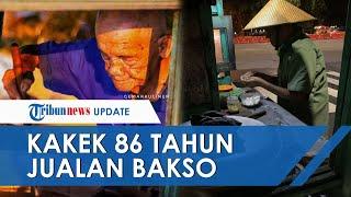 Setelah Fotonya Viral di Media Sosial, Kini Mbah Min Penjual Bakso Berusia 86 Tahun Terima Donasi
