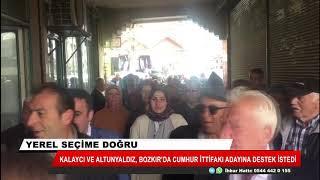 Kalaycı ve Altunyaldız, Bozkır'da Cumhur İttifakı adayına destek istedi
