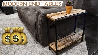 Modern Industrial End Tables 🤔💰How Much To Charge? Collab With Jonny Builds And 42 Fab