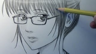 Drawing Time Lapse: Woman with Glasses