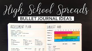 Bullet Journal Ideas   Spreads for High School Students