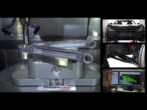 Video: Sportwagen gefräst mit Mastercam - 250.000ste Mastercam Lizenz