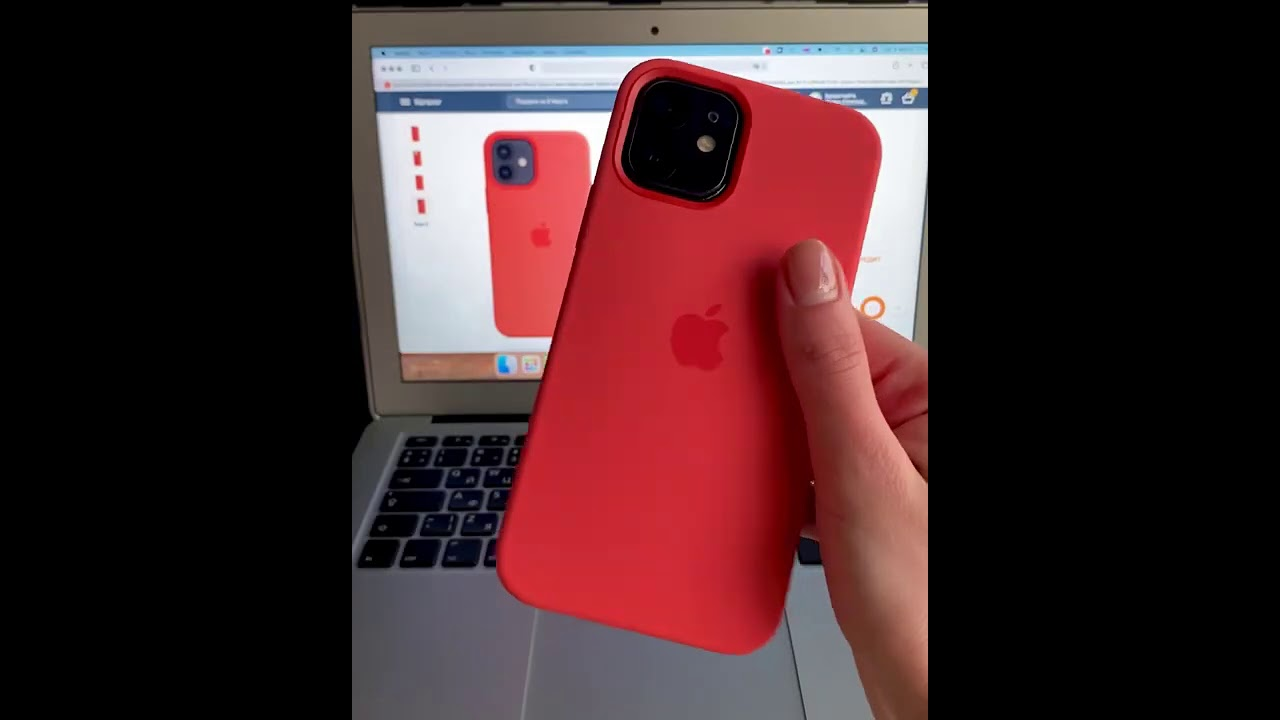 Чехол Apple Silicone Case with MagSafe (Black) MHLG3ZM/A для iPhone 12 Pro Max video preview