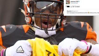Jeremy Hill DISRESPECTS the Terrible Towel, Curses Bengals With Loss