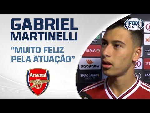 FALA, GABIGOAL! Sensação do Arsenal dá entrevista após marcar dois gols da Europa League
