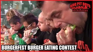 BBQ Pit Boys Burgerfest Burger Eating Contest