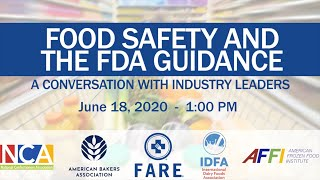 Food Safety And The FDA Guidance: A Conversation With FARE And Industry Experts
