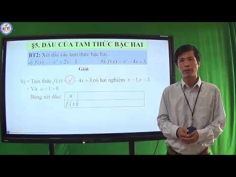 TOÁN 10 - Dấu của tam thức bậc hai (3)