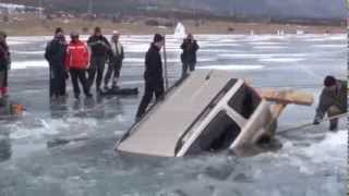 Die besten 100 Videos How to pull out car from a frozen lake. Russian style