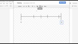 Google Drawing Number Lines