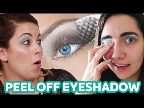 We Tried Peel Off Eyeshadow • Saf & Candace