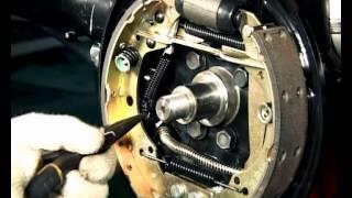 Замена задних тормозных колодок Chery A13 / Форза