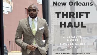 Fashion Inspiration Goodwill Thrift Haul | DIY Alterations | Affordable Dapper Suit L Lookbook