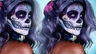 Halloween Look   Electric Paint Splatter Skelton