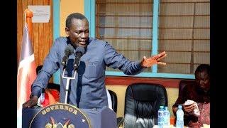 CoG Chairman Josphat Nanok outlines his concerns to President Uhuru Kenyatta