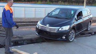 Выгрузка 6-ти автомобилей Токидоки 1 июня 2016 г
