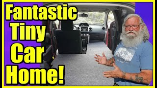 How to Live in a Small Car! Fantastic Tiny Subcompact Car Build Out!