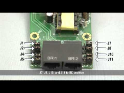 BRI Card Installation