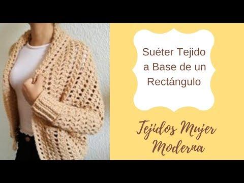 Suéter tejido a base de un rectángulo