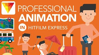 How to Make Explainer Video Animation in HitFilm Express [Step by Step | Beginner Friendly]
