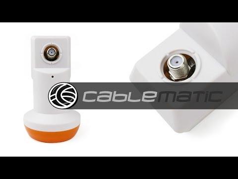 Conversor LNB simple de 62mm para antena parabólic distribuido por CABLEMATIC ®