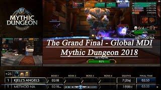 The Global Grand Final! MDI WoW Mythic Dungeon 2018! Kjell's Angels vs Method NA!
