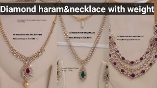 Diamond Necklace &Haram Collection With Price|my Gold Jewelry Collection In Telugu|telugu Vlogs