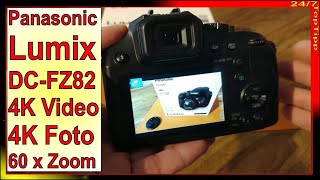 Panasonic Lumix DC-FZ82 Bridge Kamera ✔ 4K Videos u. Foto - 60 x Zoom [ Alternative zu Nikon Sony ]