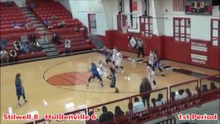 2016-17 Stilwell Lady Indians vs Holdenville Lady Wolverines Girls Basketball