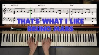 That's What I Like - Bruno Mars - Piano Cover Video by YourPianoCover