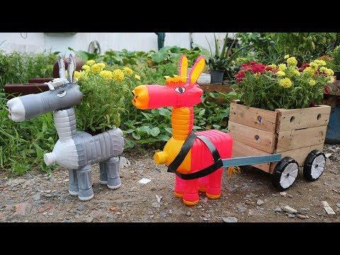 1 cách tái chế chai nhựa để làm vườn | 1 way to recycle plastic bottles for gardening