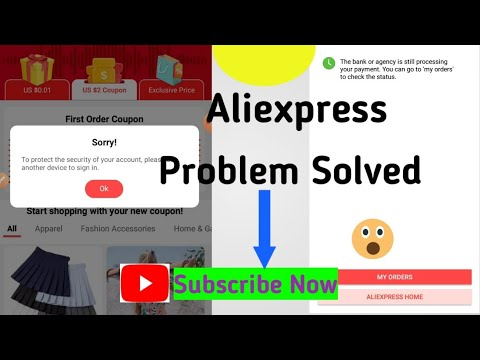 , title : 'Aliexpress new user coupon not working problem solved.Bank processing problem solved.'
