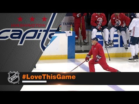 c44aee77c24 Capitals head coach Barry Trotz takes hot lap to spark team