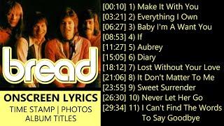 David Gates & Bread Greatest Hits Love Songs - With Lyrics