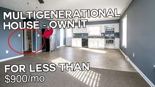 Multigenerational house - Own it for under $900/mo. Mother daughter houses