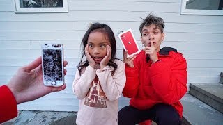 Destroying Our Little Sister's Phone, Then Giving Her A iPhone 11