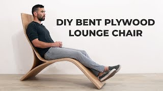 Bending Plywood To Make a Lounge Chair | #RocklerBentWoodChallenge