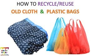 Plastic bag recycling | Old cloth recycling  (Unique idea )  || Best out of waste | Kholo.pk