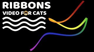 CAT GAMES - Ribbons! Video for Cats to Watch.