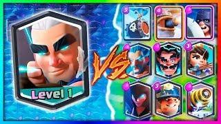 البطاقة الجديدة رامي السهام السحري ضد كل بطاقات كلاش رويال/Clash Royale VS All Card