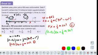 Eğitim Vadisi 11.Sınıf Fizik 10.Föy Enerji ve Hareket 2 (İş ve Enerji İlişkisi) Konu Anlatım Videoları